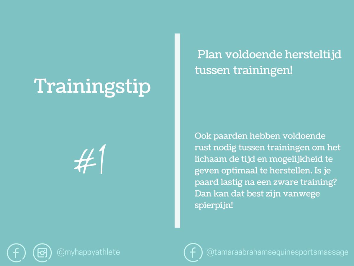 Trainingstips Plan voldoende hersteltijd