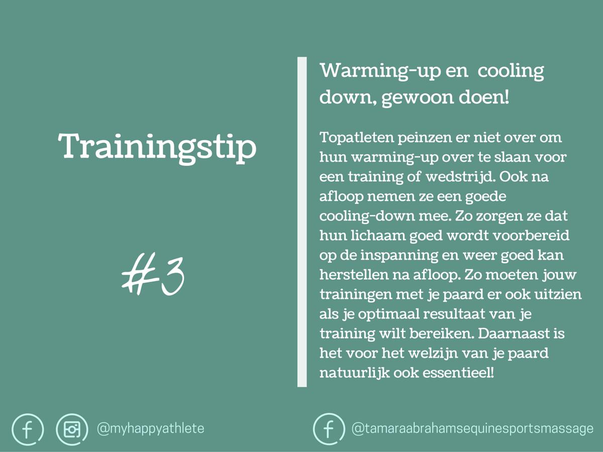 Trainingstip warming-up en cooling-down