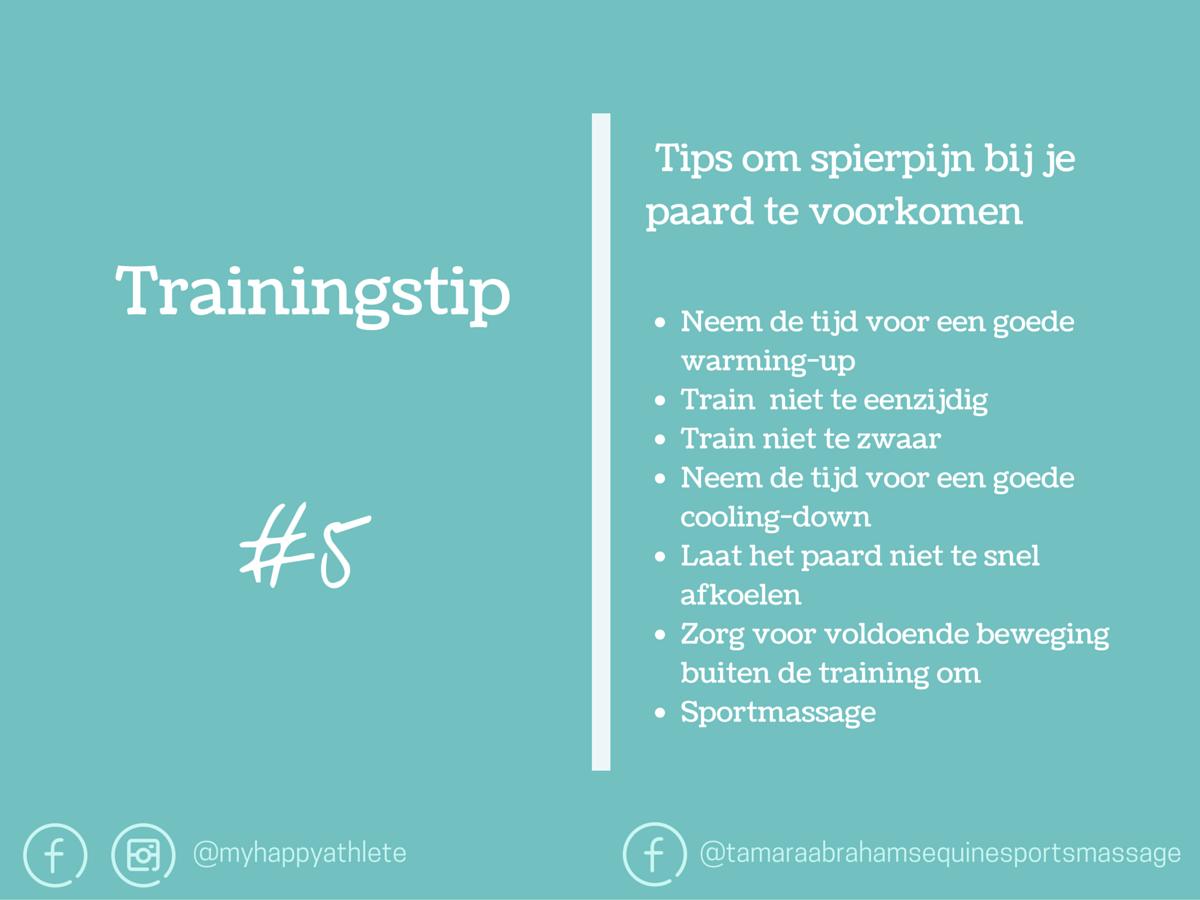Trainingstip #5 Spierpijn voorkomen